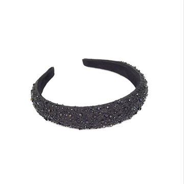 Picture of Crystal Headband 25 Mm Black