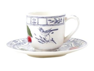 Picture of Oiseau Bleu 2 Coffee Cups and Saucers 8 cl, Ø 12,9 cm