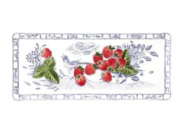 Picture of Oiseau Bleu 1 Oblong Serving Tray 38 x 14,5 cm