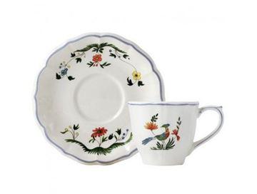 Picture of Oiseaux de Paradis 2 Us Tea Cups & Scrs 17,5 cl, Ø 15 cm