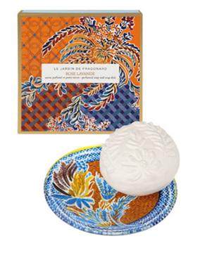 Picture of Rose Lavande soap and dish